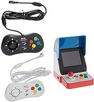 Game Monkey Neogeo Mini Pro Player Pack 美國版 - 包括 2 個游戲墊(1 個黑色和 1 個白色)和 HDMI 線纜 - Neo Geo 口袋