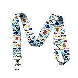 热带鱼挂绳钥匙链 ID 徽章夹