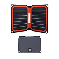 FlexSolar 可折疊太陽能充電器 8.5W 便攜太陽能充電板帶 USB 端口FLS-F1-040085 橙色