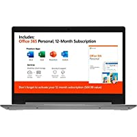 2020 Lenovo IdeaPad 14 英寸笔记本电脑,AMD A6-9220e 1.6GHz、4GB 内存、64GB eMMC 闪存、AMD Radeon R4、AC WiFi、Microsoft Office 365,2 年保修,灰色,Windows 10 Home