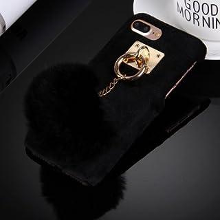 alsatek iPhone 4 *塑料保护壳 带绒球黑色钥匙圈
