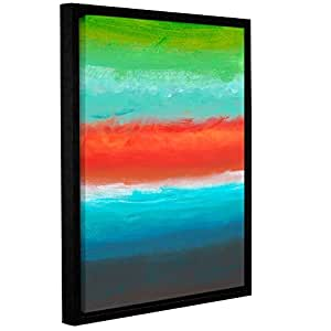 """ArtWall Jan Weiss's Vibrant Horizon I Gallery Wrapped Floater-Framed Canvas, 24"""" x 32"""""""