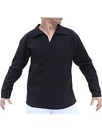 RaanPahMuang 柔软夏季棉质大领长袖衬衫