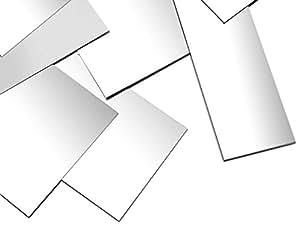 7.62 厘米 x 5.08 厘米纯色纯银床单,16 至 30 号死软,美国制造. 白色 18 Gauge 3x2ss16g