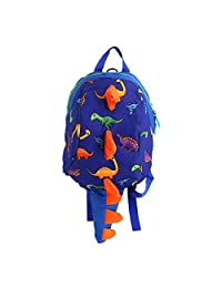 Clara 3-6 岁儿童学步儿童背包毛绒填充动物防失背包 学习系带按钮教育玩具挎包 带*带皮带