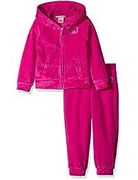 Juicy Couture橘滋 女婴2件丝绒连帽夹克和裤子套装