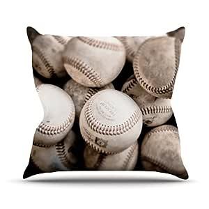 Kess Debbra Obertanec on the Mound Baseball Outdoor Throw Pillow