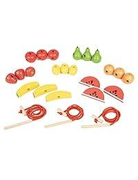 TickiT 74015 木绳 水果 21 件 附加 3 根鞋带