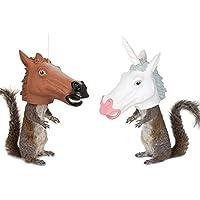 松鼠喂食器独角兽头/马头二合一 - 这些会带来所有笑声!