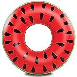 BigMouth Inc 巨型西瓜泳池漂浮,趣味充气乙烯基夏季泳池沙滩玩具,含贴片套件