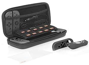 Amazon基本的 Nintendo Switch用保护套件 (收纳箱+Joy-Congrip +钢化玻璃制屏幕保护膜+屏幕膜)