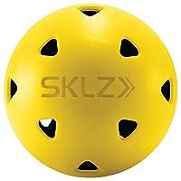 SKLZ Impact 高尔夫球(12 只装)限量真实飞行击球冲击高尔夫球,耐压和持久耐用,是塑料训练高尔夫球的更佳替代品,适合家庭练习
