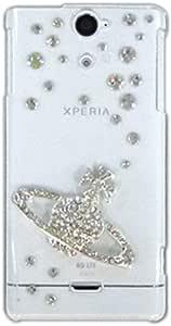 智能手机壳 透明 宝石 装饰 套 透明壳 硬质 装饰 定制 壳wn-0062126-wy DELL Streak Pro GS01 サターン(シルバー)