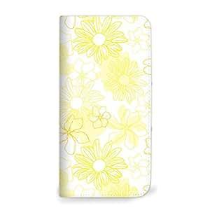 Mitas 智能手机壳 笔记本式 花朵 イエロー(ベルトなし) 14_DIGNO F (503KC_softbank)