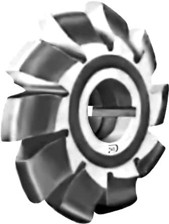 F&D Tool Company 12783 Involute 齿轮铣刀,高速钢,形状消除,14 1/2 度压力角,3 个切割器编号,7.62 厘米直径对称间距,4.45 厘米孔径,14.5 厘米直径