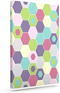 """Kess InHouse Nicole Ketchum""""Pale Bee Hex"""" Outdoor Canvas Wall Art, 16 by 20-Inch"""