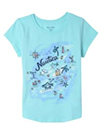 Nautica Girls' Short Sleeve Graphic Tee