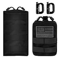 IronSeals MOLLE Pouch 多功能战术紧凑包防水实用的 EDC 袋带美国国旗补丁