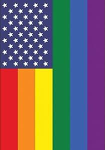 托兰 家居花园爱国骄傲 31.75 x 45.72 cm 装饰性同性恋彩虹支撑美国花园旗帜
