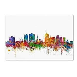 Trademark Fine Art Christchurch 新西兰天际线 Michael Tompsett 12x19-Inch MT0770-C1219GG