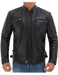 BlingSoul 冬季皮夹克男式 - 摩托车飞行员皮夹克男式