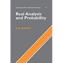 Real Analysis and Probability (Cambridge Studies in Advanced Mathematics Book 74) (English Edition)