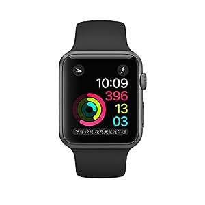 Apple Watch Series 2 42 毫米深空灰色铝金属表壳搭配黑色运动型表带MP062CH/A