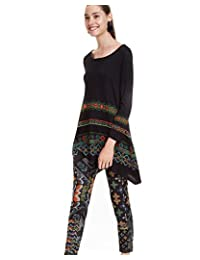 Desigual 女式长裤冬绿色
