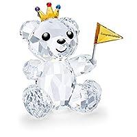 Swarovski 施华洛世奇水晶熊心形生日快乐,水晶,多色,8.7 厘米