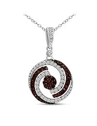 母亲节礼物奢华天然钻石项链 0.19 克拉至 0.82 克拉钻石项链女式 I1-净度 10K 白金钻石女士首饰礼物(高色)(母亲节礼物) TCHP15071 (0.82cents)