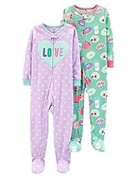 Carter's 女宝宝2件装抓绒睡衣,爱情/甜甜圈,18个月