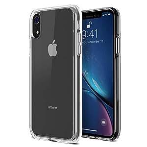 Trianium Clarium 手机壳专为苹果 iPhone XR 手机壳设计(仅 2018 6.1 英寸显示屏)加强角 TPU 垫和混合坚硬透明背板保护盖【增强的手柄】 - 透明