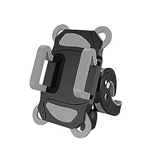rrecomfit 360度旋转通用弹性长臂手机支架支架懒人支架套装免提手机鹅颈支架适用于床桌面适用于 iPhone/三星/HTC ECT (黑色) Bike Phone Holder
