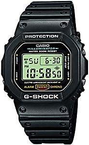 Casio 卡西欧 G-Shock 男士手表 DW-5600E-1VER,Black/Black,One Size