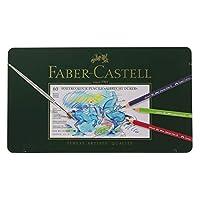 Faber-castell 辉柏嘉 A.DÜRER 60色水溶彩色铅笔117560 绿铁盒装