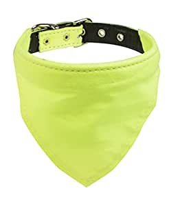 Evans 项圈 Kerchief 项圈 霓虹黄色 Size 10