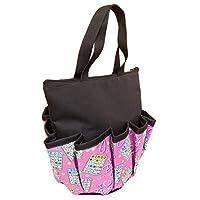 ABS Novelties I Love Bingo 粉色图案 10 个口袋拉链手提包