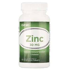 GNC 健安喜 锌 30mg*100片/瓶 调节免疫增强抵抗 美国品牌 包税