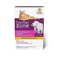 Comfort Zone 猫舒缓剂套装   猫舒缓*   2 个扩散器和 2-1.62 液体盎司(48 毫升)补充装