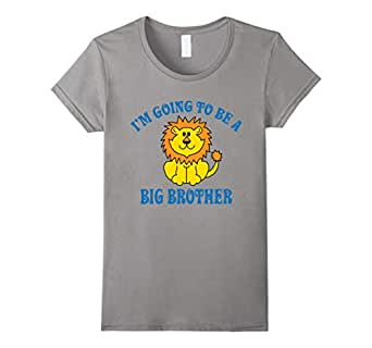 I'm Going To Be A Big Brother T-Shirt 蓝灰色 Female Medium