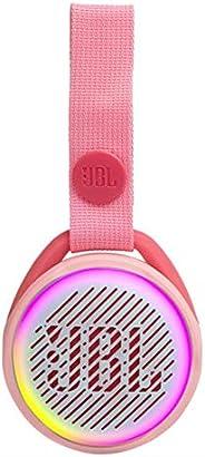 JBL JR Pop 迷你盒子 粉色 – 罌粟花,防水藍牙揚聲器,帶內置燈光圖案JBLJRPOPPIK