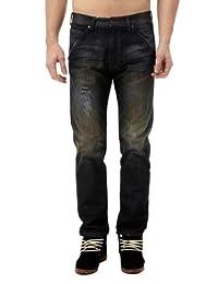 Wrangler 男式 休闲时尚怀旧洗水效果舒适低腰牛仔裤 W10807550602