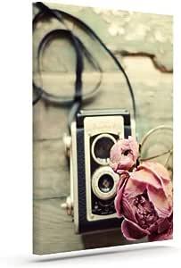 "Kess InHouse Cristina Mitchell""I Have but Two Loves""粉色棕褐色户外帆布墙壁艺术 10"" x 12"" 粉红色 CM2005AAC02"