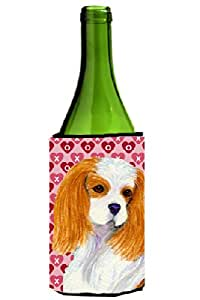 Caroline's Treasures SS4527-Parent Cavalier Spaniel Hearts Love and Valentine's Day Portrait Ultra 饮料隔热器适用于纤薄罐 SS4527MUK,多色 多种颜色 750 ml SS4527LITERK