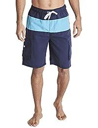 3AXE 男式速干沙滩裤 男孩泳裤 工装短裤 网眼内衬