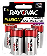 FUSION by Rayovac High-Performance 9V Alkaline Batteries C 4