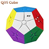 LiangCuber Qiyi 2x2 Megaminx 无贴纸速度魔方 qiyi 2x2 Dodecahedron 12面魔方拼图