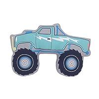 Carter's 青色、蓝色和灰色怪物卡车形状幼儿枕头,青色,蓝色,灰色
