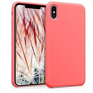 kwmobile TPU 硅胶手机壳适用于 Apple iPhone Xs Max - 柔软灵活的减震保护手机套 - 橄榄绿哑光45909.103_m001232 .neon 珊瑚