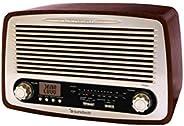 Sunstech RPR4000 个人模拟木 - 收音机(个人、LCD、模拟、AM、FM、AC、R03)